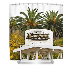 Shower Curtain featuring the photograph Matties Tavern Los Olivos California by Floyd Snyder