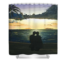 Maui Beach Sunset Shower Curtain by Norm Starks