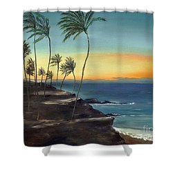 Shower Curtain featuring the painting Maui by Carol Sweetwood