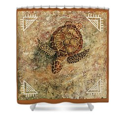 Shower Curtain featuring the painting Maui Honu by Darice Machel McGuire