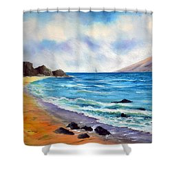 Shower Curtain featuring the painting Maui by Joan Hartenstein