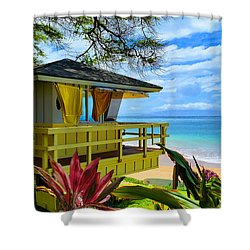 Maui Kamaole Beach Shower Curtain