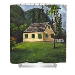 Shower Curtain featuring the painting Maui Nature Center by Darice Machel McGuire