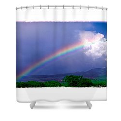 Shower Curtain featuring the photograph Maui Rainbow by Marie Hicks