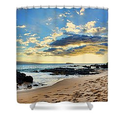 Maui Sunset Panorama Shower Curtain
