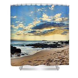 Maui Sunset Panorama Shower Curtain
