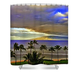 Maui Sunset At Hyatt Residence Club Shower Curtain