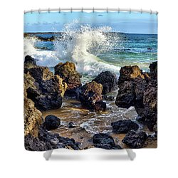 Maui Wave Crash Shower Curtain