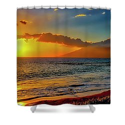 Maui Wedding Beach Sunset  Shower Curtain