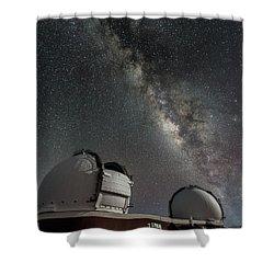 Mauna Kea Night Shower Curtain by Allen Biedrzycki