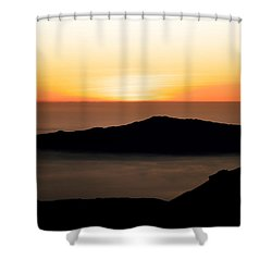 Mauna Kea Sunset Shower Curtain
