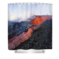 Mauna Loa Eruption Shower Curtain by Joe Carini - Printscapes