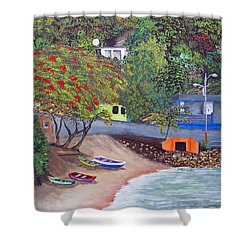 Maunabo Pescaderia Shower Curtain