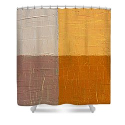 Mauve And Peach Shower Curtain