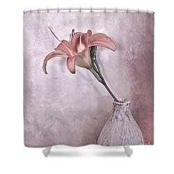 Mauve Lily Shower Curtain by Marsha Heiken