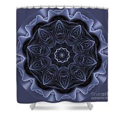Mauve Rose Mandala Shower Curtain