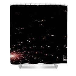 Mauve Spiral Nebula Shower Curtain