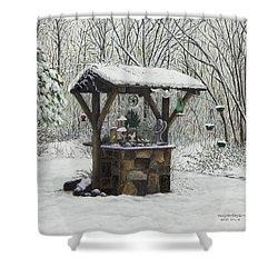 Mavis' Well Shower Curtain by Mary Ann King