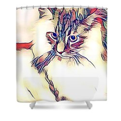 Max The Cat Shower Curtain
