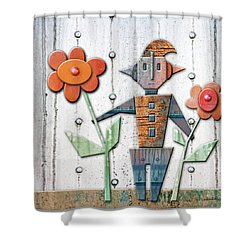 Max The God Of May Shower Curtain by Joan Ladendorf
