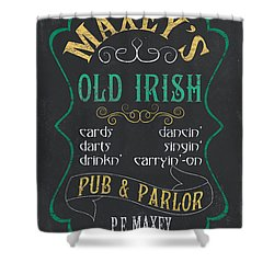 Maxey's Old Irish Pub Shower Curtain by Debbie DeWitt