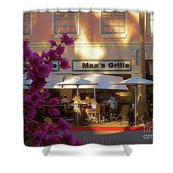 Max's Cafe In Mizner Park. Boca Raton, Fl Shower Curtain