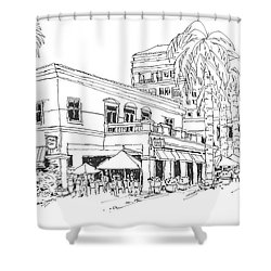 Max's Cafe In Mizner Park, Florida Shower Curtain