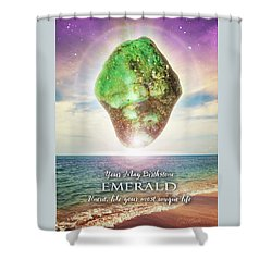 May Birthstone Emerald Shower Curtain