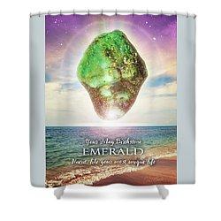 May Birthstone Emerald Shower Curtain