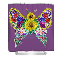 May Butterfly Shower Curtain