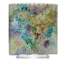 Shower Curtain featuring the painting May Flowers by Joanne Smoley