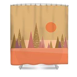May Morning Sunrise Shower Curtain