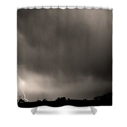 May Showers 3 In Sepia - Lightning Thunderstorm 5-10-2011 Boulde Shower Curtain by James BO  Insogna