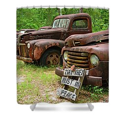May They Rust In Peace Shower Curtain