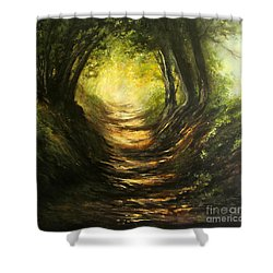 May Your Light Always Shine Shower Curtain by Valerie Travers