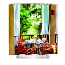 Maya Sari Mas Shower Curtain by Lanjee Chee
