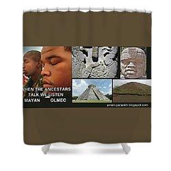 Mayan Olmec Shower Curtain