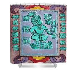 Mayan Prince Shower Curtain by Antonio Romero