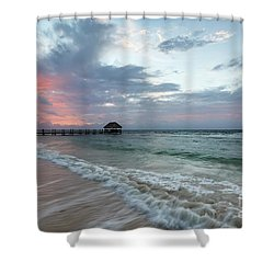 Mayan Sunrise Shower Curtain