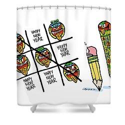 Mayan Tic Tac Toe Shower Curtain