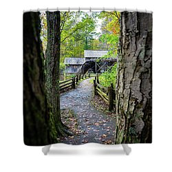 Maybry Mill Through The Trees Shower Curtain