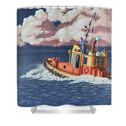 Mayday- I Require A Tug Shower Curtain by Gary Giacomelli