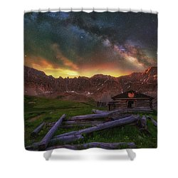 Shower Curtain featuring the photograph Mayflower Milky Way by Darren White