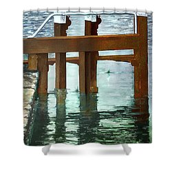 Maynooth Lock Shower Curtain by Marty Garland
