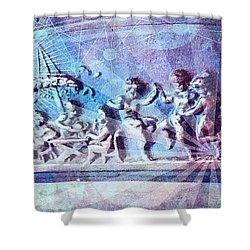 Maypole Dance  Shower Curtain