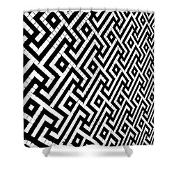 Shower Curtain featuring the photograph Maze Print by Rebecca Harman