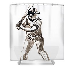 Mbl Batter Up Shower Curtain by Seth Weaver