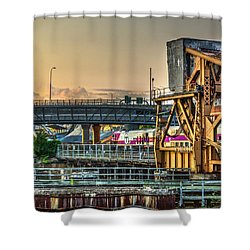 Mbta Bascule Bridge 010 Shower Curtain