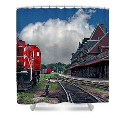 Mcadam Train Station Shower Curtain