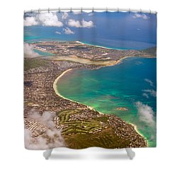 Shower Curtain featuring the photograph Mcbh Aerial View by Dan McManus